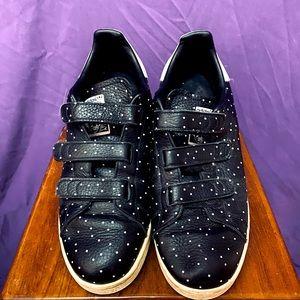 Adidas Stan Smith Black Sneakers White Polka Dots